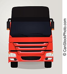 Truck. front view. vector illustration