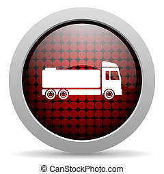 truck glossy icon