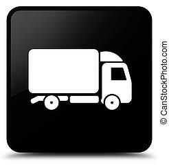 Truck icon black square button