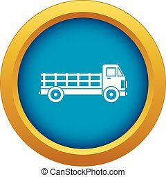 Truck icon blue vector isolated