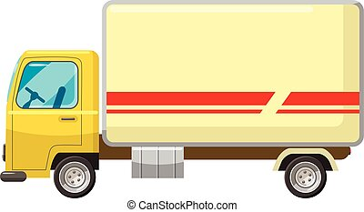 Truck icon, cartoon style