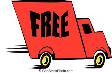 Truck icon cartoon