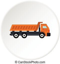 Truck icon circle