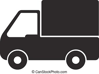 truck icon, delivery.