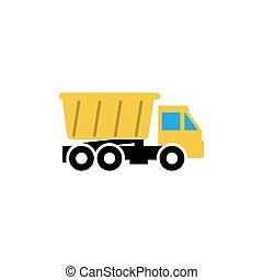 Truck icon design template vector isolated illustration