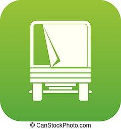 Truck icon digital green