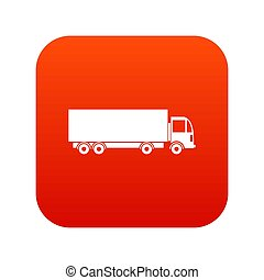 Truck icon digital red