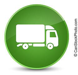 Truck icon elegant soft green round button
