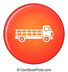 Truck icon, flat style