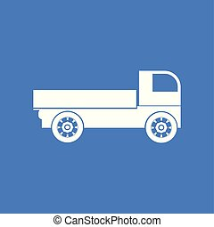Truck icon illustration isolated vector.