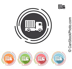 Truck icon in a flat style