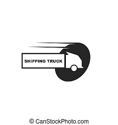 truck icon logo vector illustration design