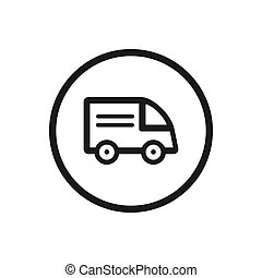 Truck icon on a white background