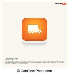 Truck icon Orange Abstract Web Button