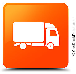 Truck icon orange square button