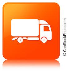 Truck icon orange square button