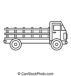 Truck Icon Outline Style