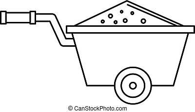 Truck icon, outline style