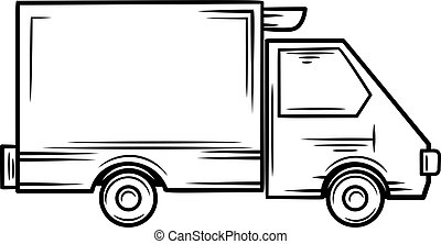 Truck icon, outline