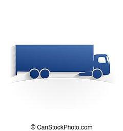 truck icon paper