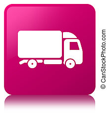 Truck icon pink square button