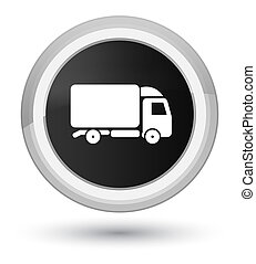 Truck icon prime black round button