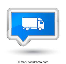 Truck icon prime cyan blue banner button