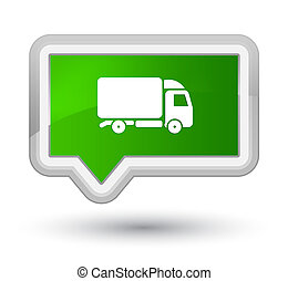 Truck icon prime green banner button