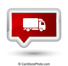 Truck icon prime red banner button