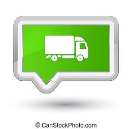 Truck icon prime soft green banner button
