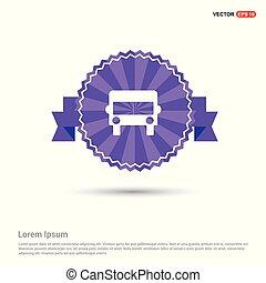 Truck icon - Purple Ribbon banner
