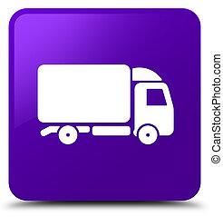 Truck icon purple square button