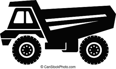Truck icon, simple style