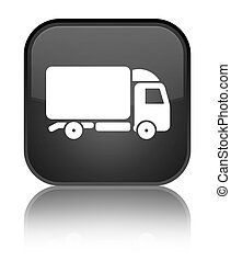 Truck icon special black square button