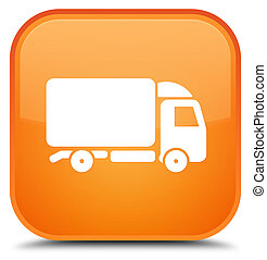 Truck icon special orange square button