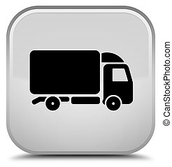Truck icon special white square button