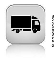 Truck icon special white square button