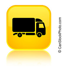 Truck icon special yellow square button
