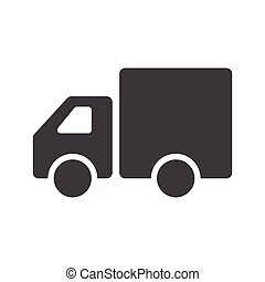 Truck Icon Vector. Flat design. Truck sign isolated on white background.