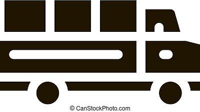 Truck Icon Vector Glyph Illustration
