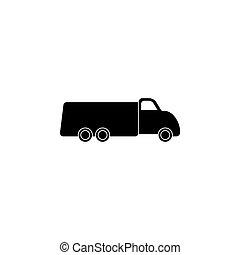 truck icon. vector illustration black on white background