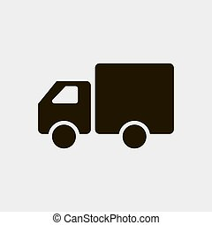 Truck icon vector illustration isolated on white background