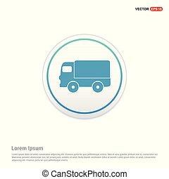 Truck icon - white circle button