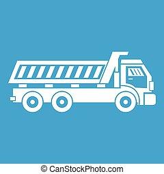 Truck icon white