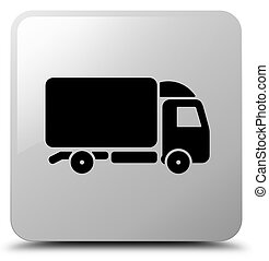 Truck icon white square button