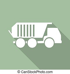 Truck icon with long shadow