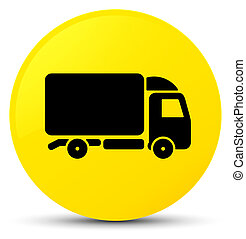 Truck icon yellow round button