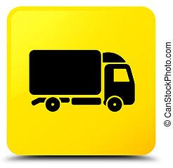 Truck icon yellow square button
