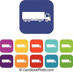 Truck icons set