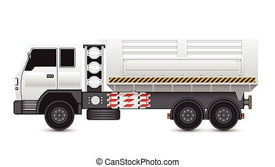 Truck - Illustration of tipper trucks isolated on white ...